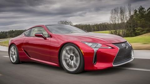 Dramatic, V8-powered LC500 seeks to put a halo around the Lexus range