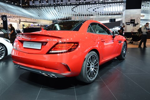 A new name and a new face for the Mercedes SLK, sorry, SLC. This is the new SLC43 AMG performance version