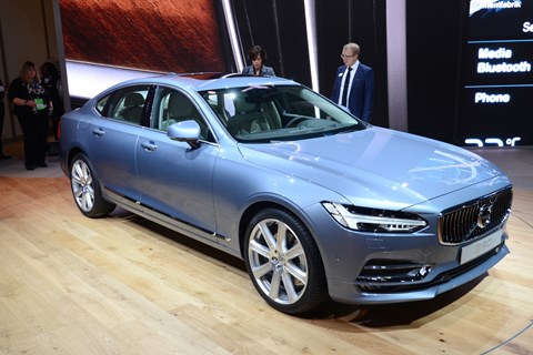 Volvo's hotly anticipated S90 makes a public appearance at Detroit