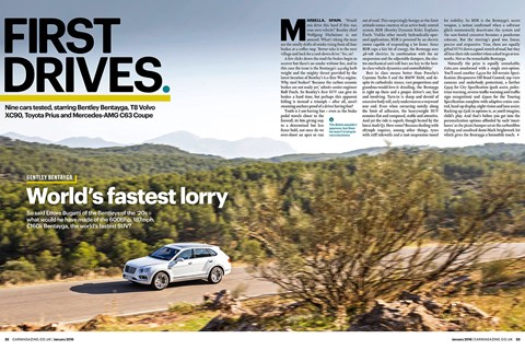 Letter of the month. The drag-coefficient on the Bentley Bentayga appears to be the same as the Prius - kindly pointed out by Alistair Drysdale