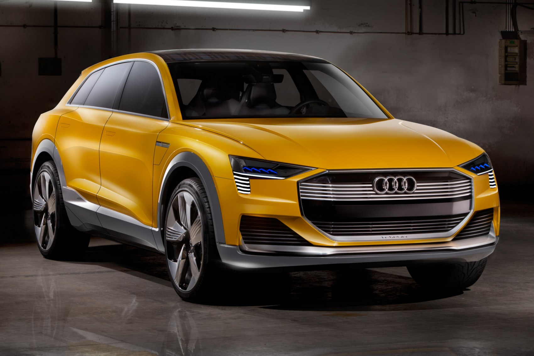 audi puts solar assisted hydrogen powered audi h tron quattro in the spotlight by car magazine. Black Bedroom Furniture Sets. Home Design Ideas