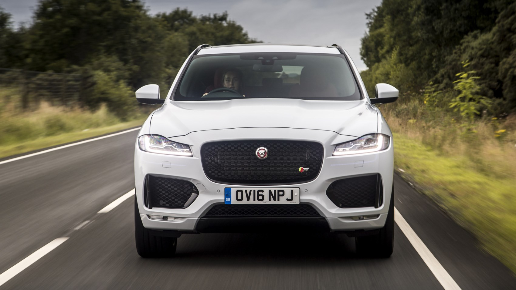 Jaguar F-Pace S front end tracking