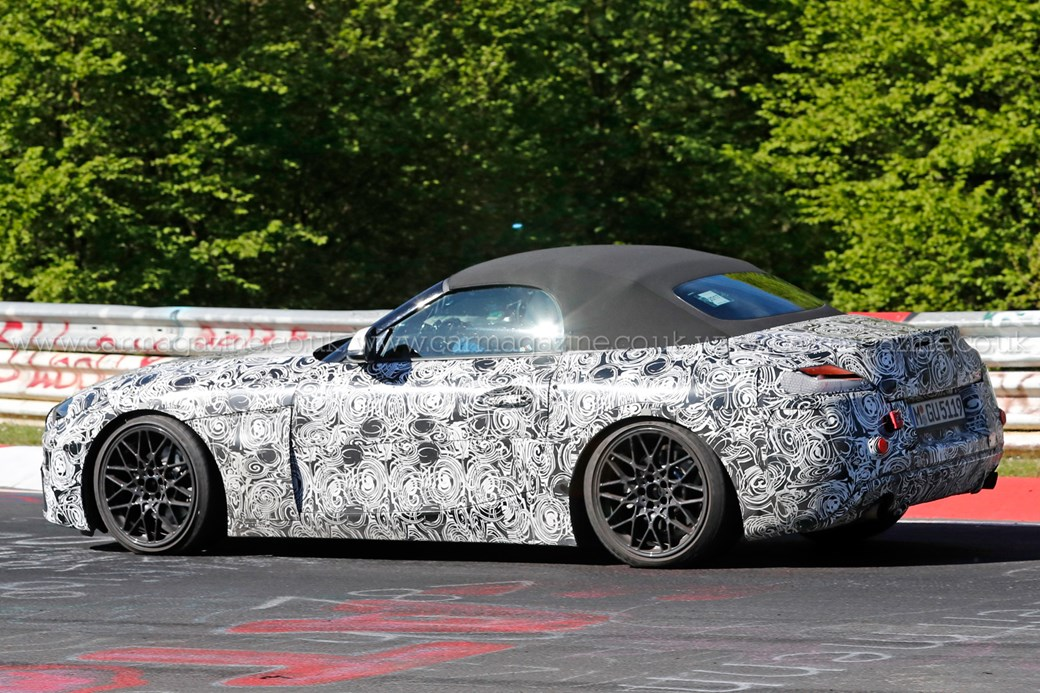 New Z4 spied testing at the Nurburgring