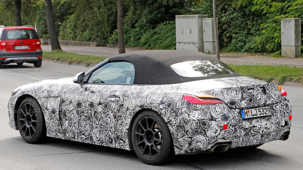 2018 bmw production schedule. exellent schedule foureyed roadster latest 2018 bmw z4 spy shots show production lights  inside bmw schedule