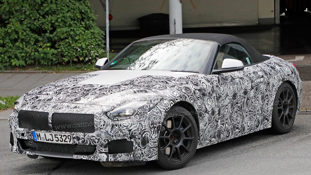 2018 bmw production schedule. fine schedule foureyed roadster latest 2018 bmw z4 spy shots show production lights  inside bmw schedule