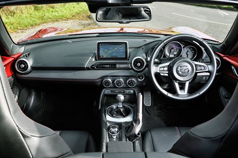 Inside the cabin of our 2016 Mazda MX-5