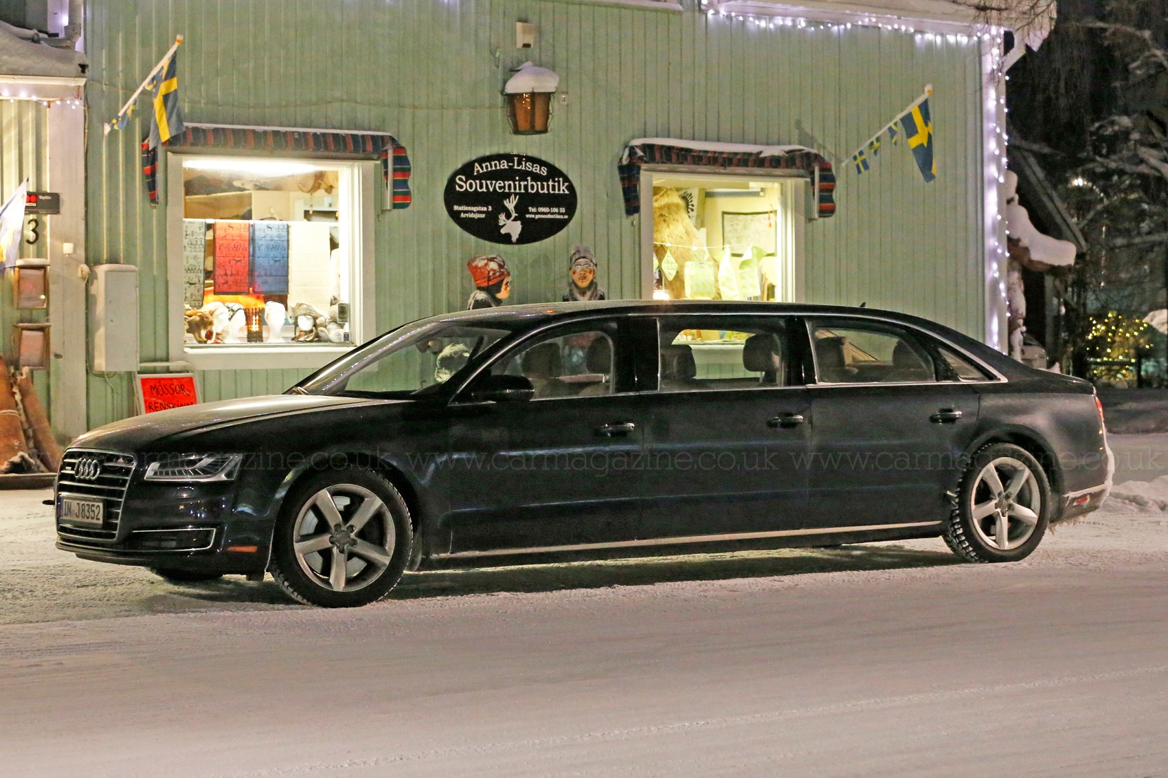 Is it us or do the door panels not look entirely straight? & And stretchu2026 Mystery six-door Audi A8 limo spotted in Sweden | CAR ...