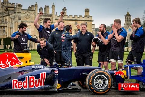 Red Bull's Daniel Ricciardo and Bath Rugby