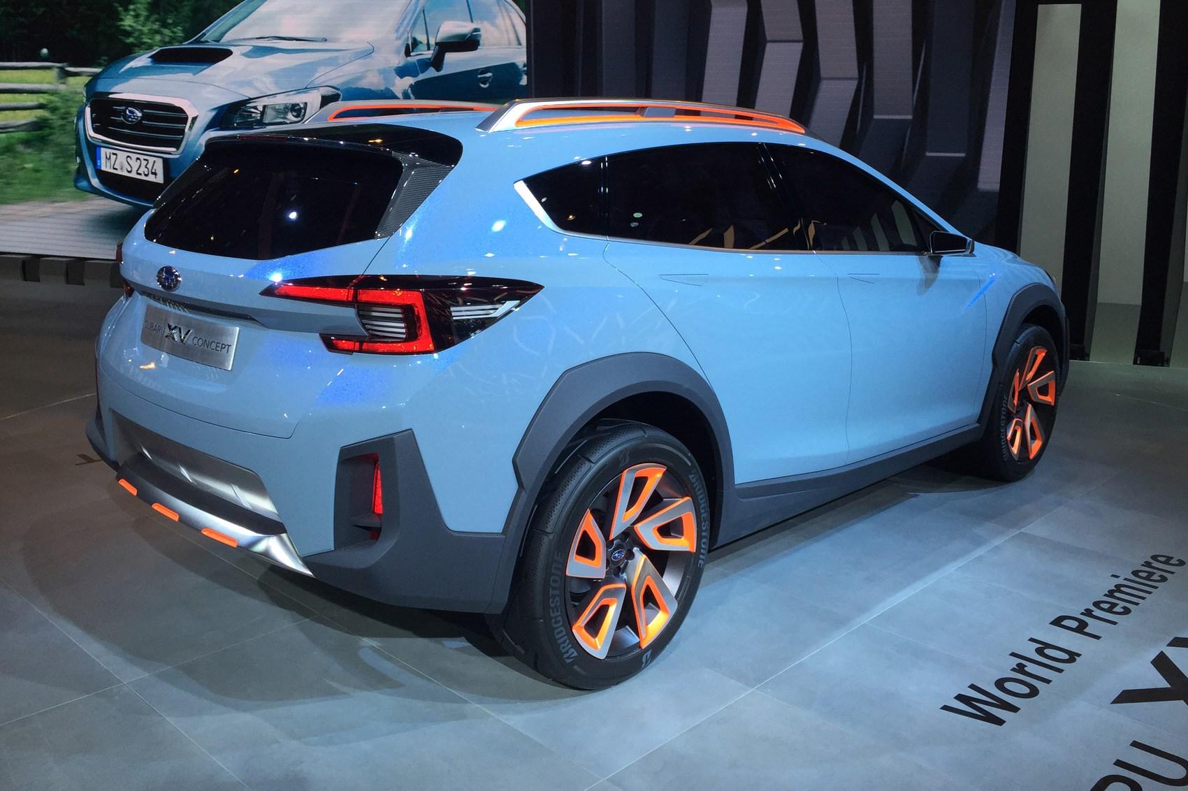 subaru xv concept revealed at 2016 geneva motor show by car magazine. Black Bedroom Furniture Sets. Home Design Ideas