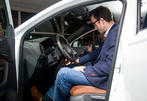 Author Tim Pollard hands-on with the Seat Ateca