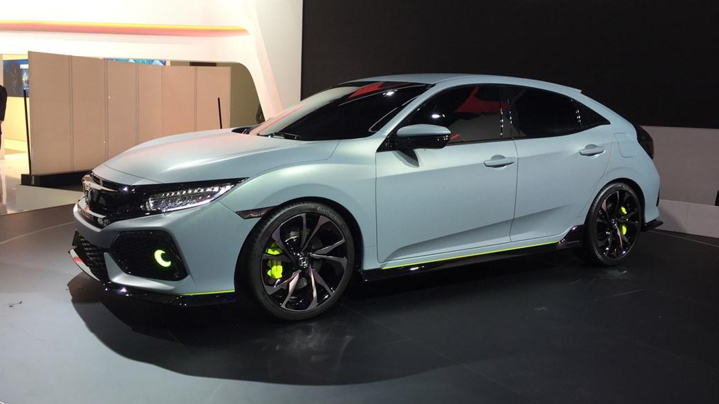 New 2017 Honda Civic Prototype Unveiled In Geneva
