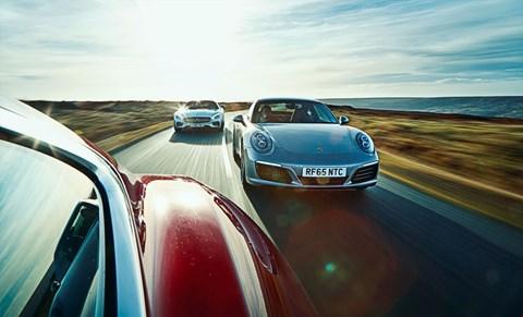 Porsche 911 vs Merc-AMG GT vs F-type R