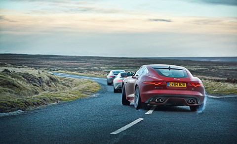 Porsche 911 Turbo S vs Jaguar F-type R vs Mercedes-AMG GT S