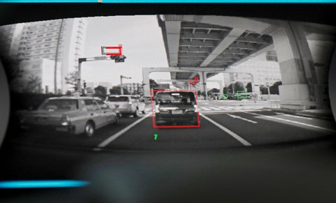 Cameras beam images back to the cabin to help the car (and driver) see what's ahead and behind
