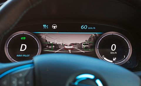 Driver dials indicate when the car's in charge and the driver can go 'hands-free'