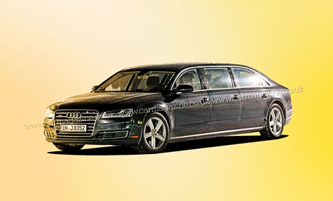 This is a one off build for a mystery customer, Audi's XXL six-door A8 is expected to be finished in 2016