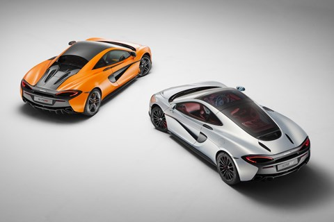 570S on the left, 570GT on the right