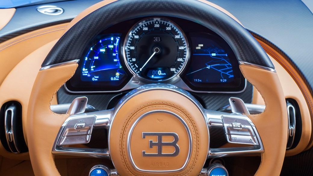 Bugatti chiron 2016 interior