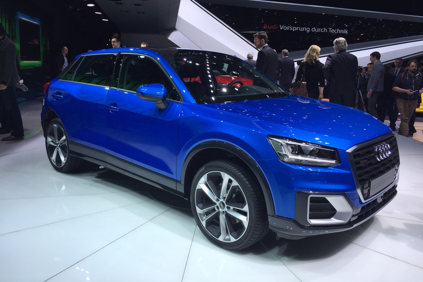 audi q2 in pictures new suv lands at geneva show car. Black Bedroom Furniture Sets. Home Design Ideas