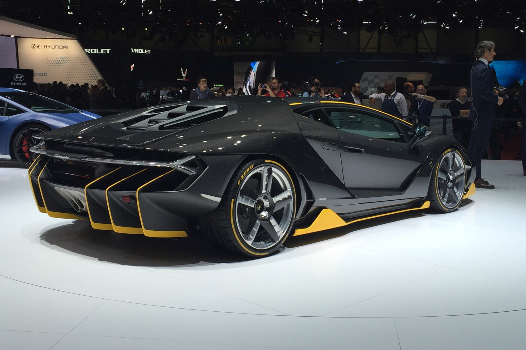 Car Show Display Ideas >> Our kind of birthday cake: new Lamborghini Centenario unveiled at Geneva motor show | CAR Magazine