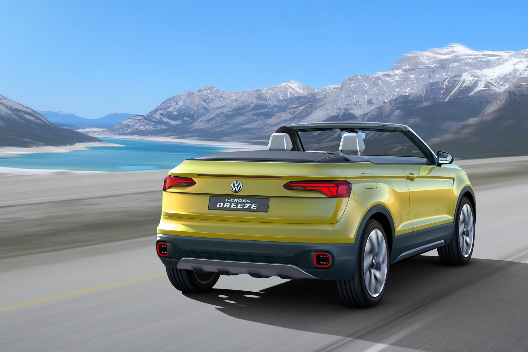 Volkswagen T Cross Breeze Concept The Compact Evoque Convertible From Vw Car Magazine