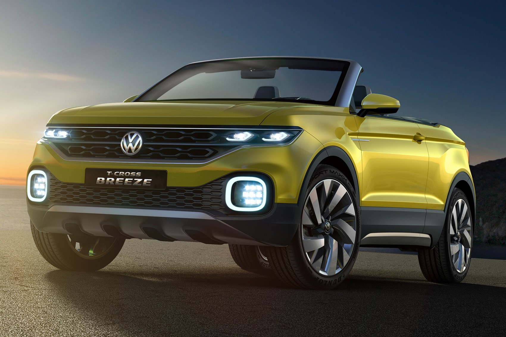 volkswagen t cross breeze concept the compact evoque convertible from vw car magazine. Black Bedroom Furniture Sets. Home Design Ideas
