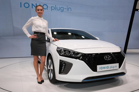 Hyundai Ioniq at the Geneva motor show