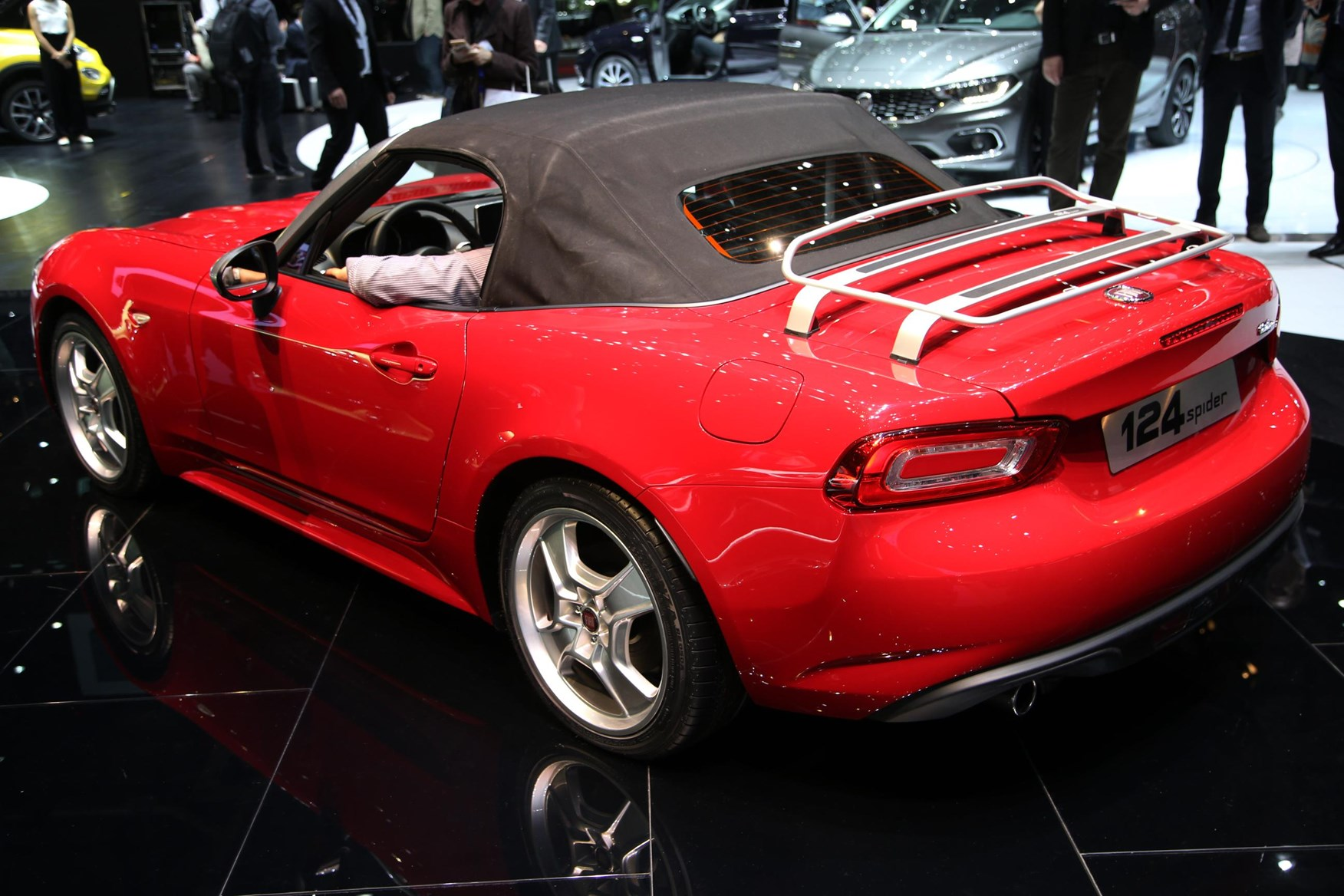 Web Twins Abarth And Fiat 124 Spiders At Geneva By Car
