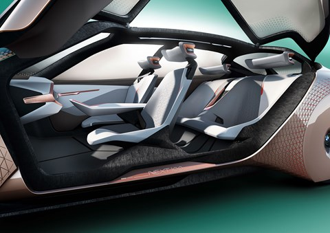 Inside the cabin of the BMW Vision Next 100