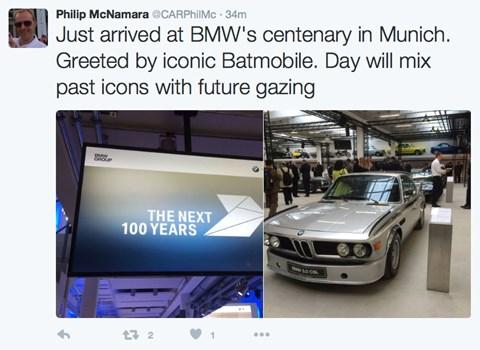 Phil McNamara at the BMW centenary