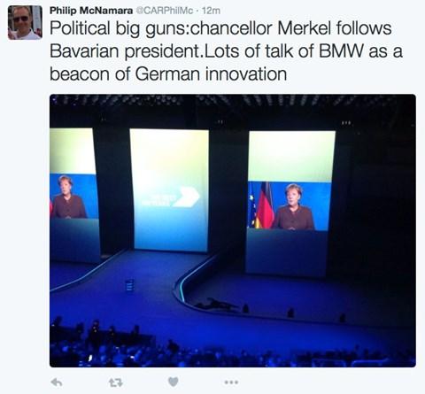 German chancellor Angela Merkel is here