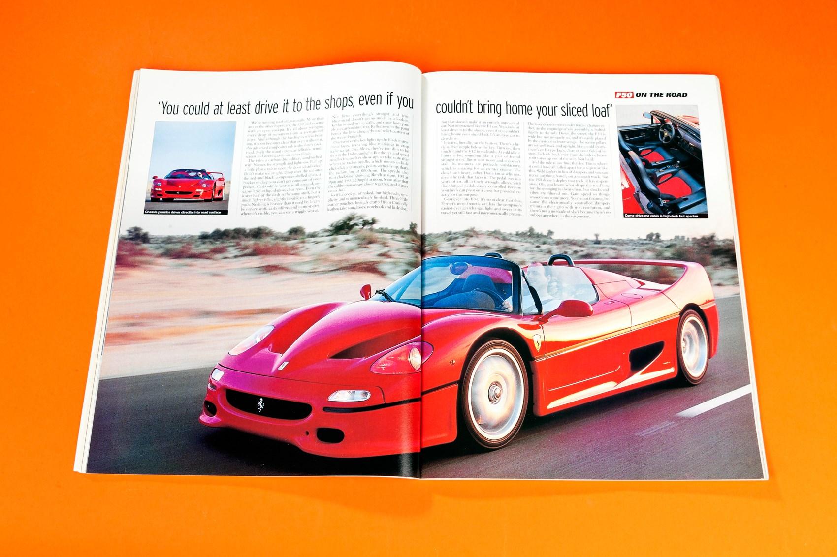 Legalised Ecstasy The First Ferrari F50 Road Test Car