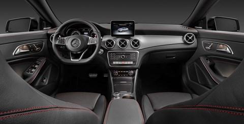 Scrubbed-up cabin inside 2016 Mercedes CLA