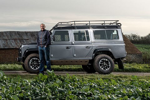 Keeper Steve Moody and CAR's Land Rover Defender