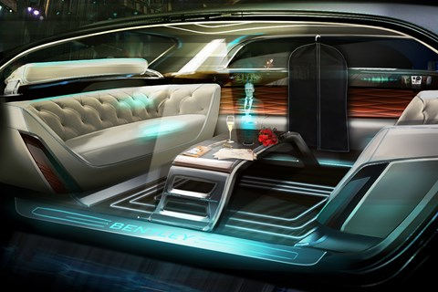 Bentley 'future of luxury' interior, complete with virtual butler
