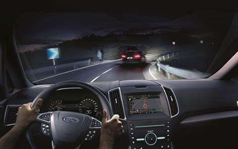 Casting light around other cars: Ford's new anti-dazzle headlamps