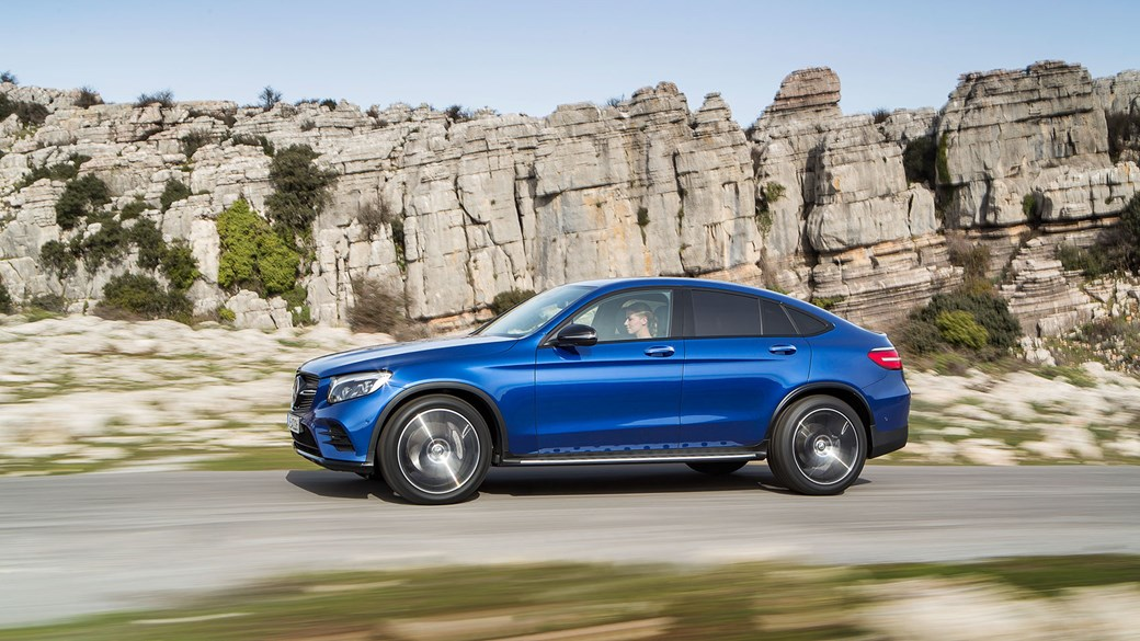 merc lowers the roof: mercedes glc coupe revealed at 2016 new york