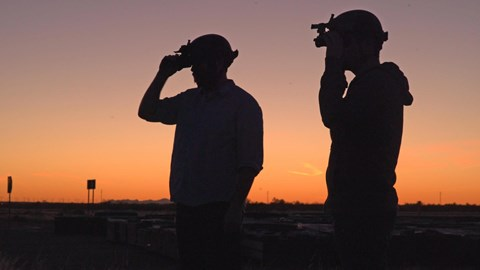 Spotters at the Ford Arizona Proving Ground