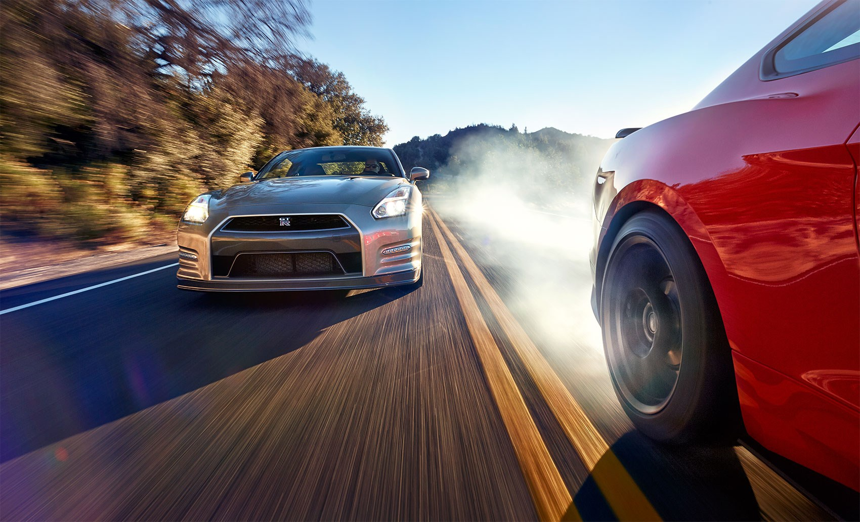 Godzilla vs voodoo child nissan gt r takes on ford mustang shelby gt350 car magazine