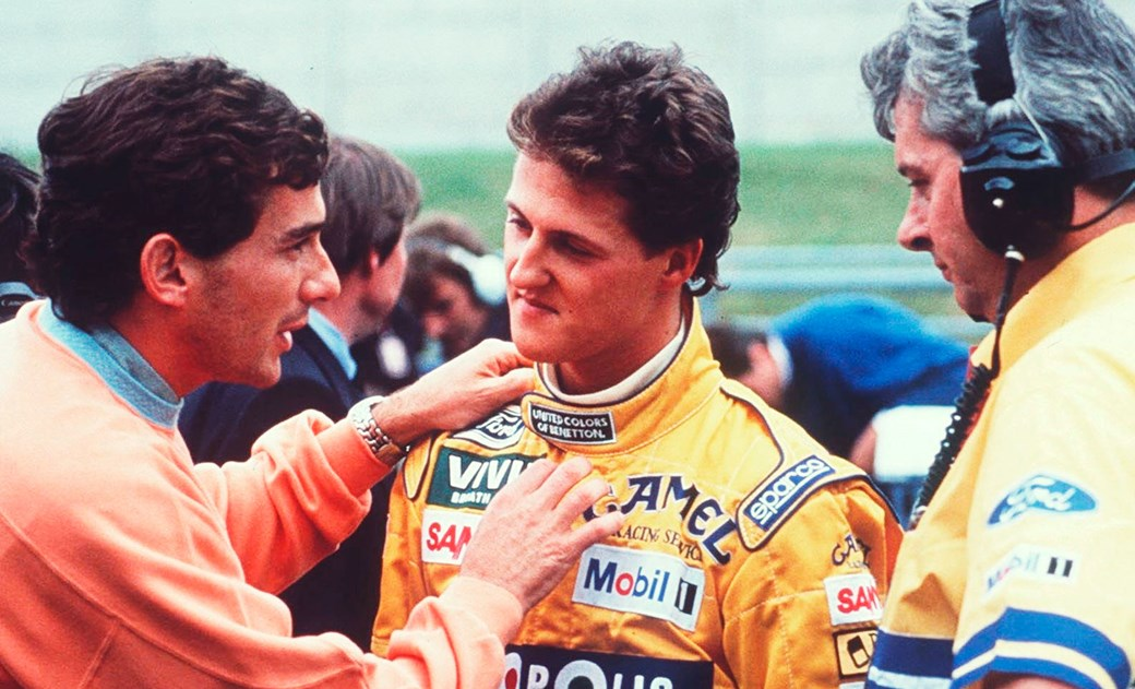 Schumacher's first win was at Spa in '92. He'd already clashed with Senna earlier in the season