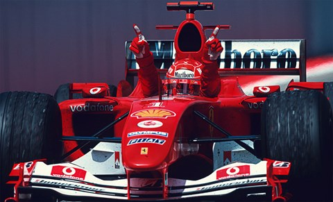 Ninety one times we saw the victory fingers, the grin, the podium leap. Michael not only shook up Ferrari, he revolutionised F1
