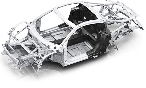 Audi R8 spaceframe