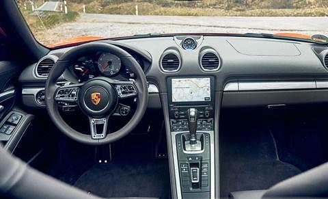 Porsche 718 Boxster cabin