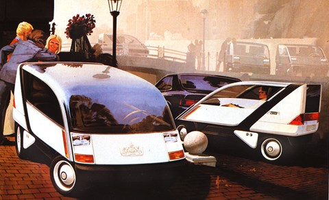 Espace meets NASA. Car designers admit that, with most ideas, Mead got there first
