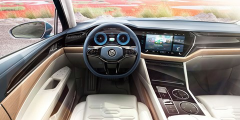 Volkswagen's Curved Interaction Area