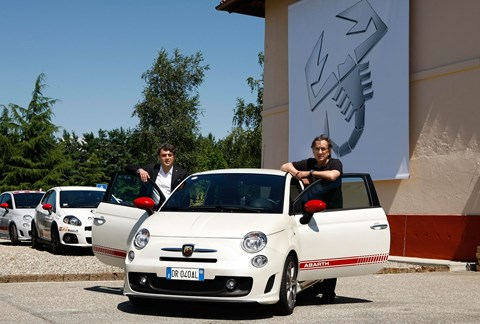 CEO Sergio Marchionne and Luca De Meo, previous boss of Abarth