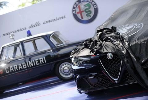 The original 1970s Alfa Romeo Giulia Super police car meets its modern-day equivalent