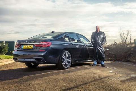 Keeper Greg Fountain and CAR's black BMW 7-series
