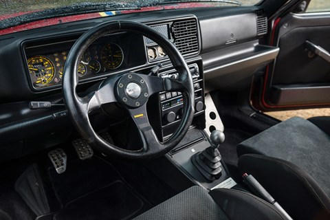 Inside the Integrale's cabin