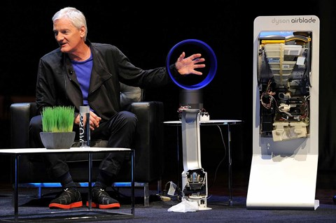 James Dyson and his AirBlade hand drier (Getty)